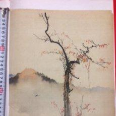 Arte: TINTA CHINA SOBRE SEDA, FIRMADA. Lote 278385733