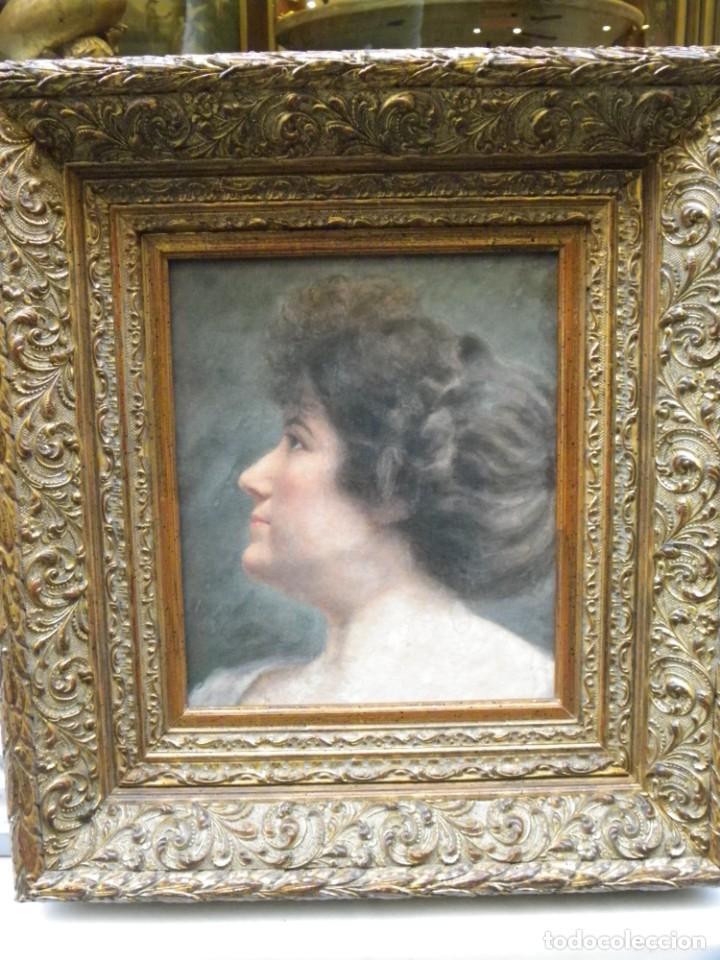 Arte: Acuarela retrato de mujer S-XIX - Foto 3 - 278410153
