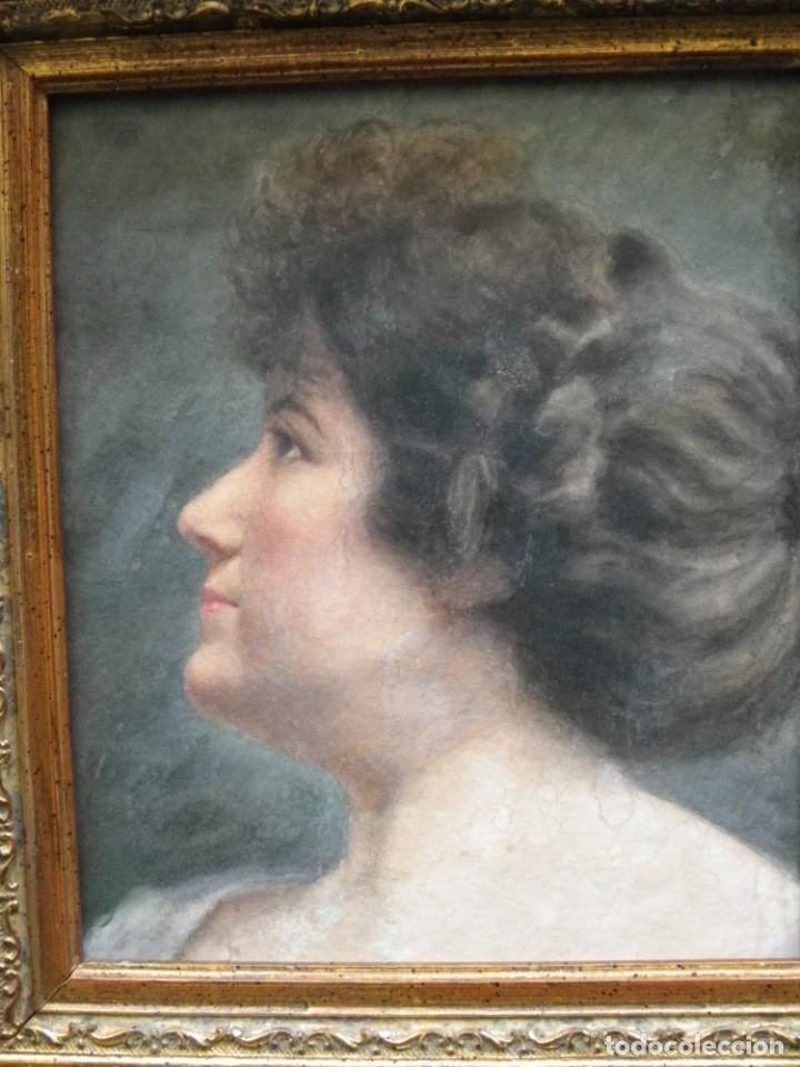 Arte: Acuarela retrato de mujer S-XIX - Foto 5 - 278410153