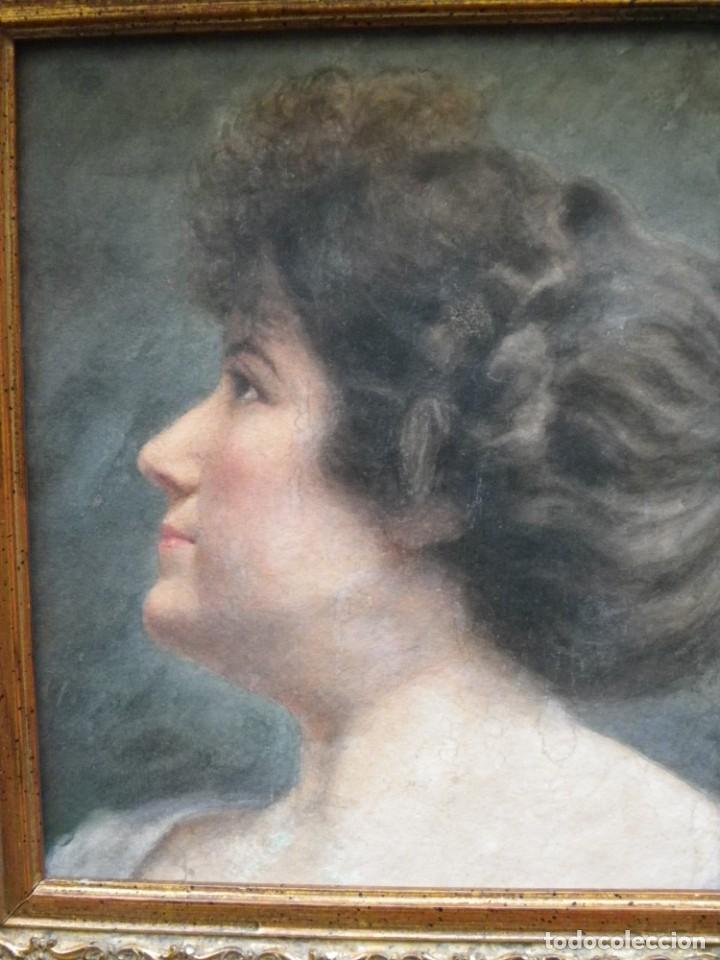 Arte: Acuarela retrato de mujer S-XIX - Foto 6 - 278410153