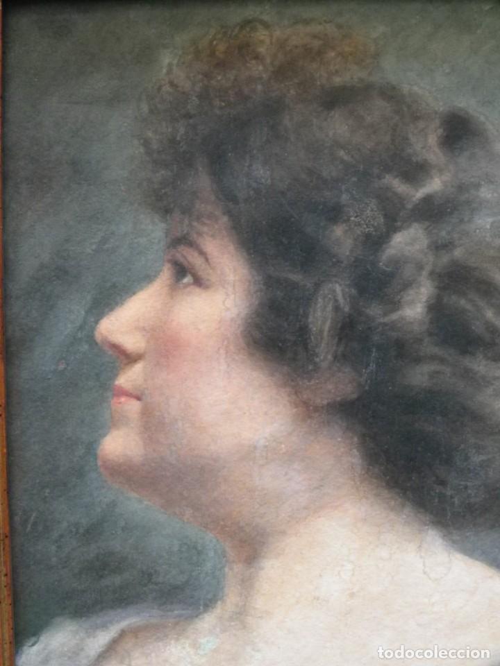 Arte: Acuarela retrato de mujer S-XIX - Foto 7 - 278410153