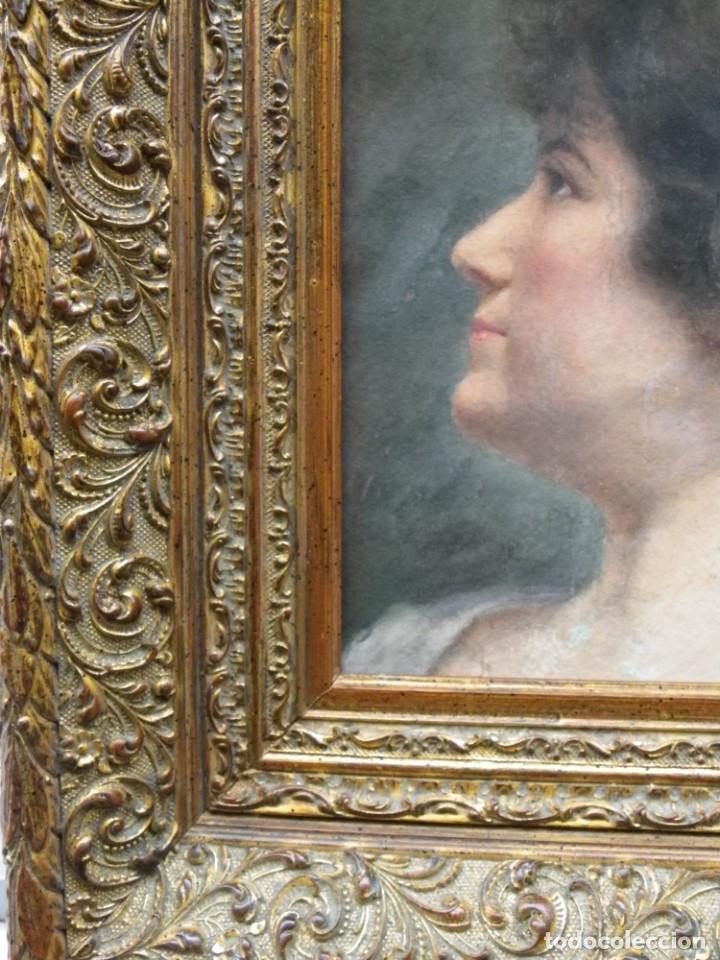 Arte: Acuarela retrato de mujer S-XIX - Foto 8 - 278410153