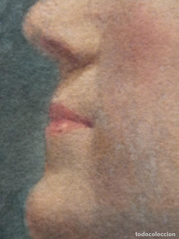 Arte: Acuarela retrato de mujer S-XIX - Foto 13 - 278410153