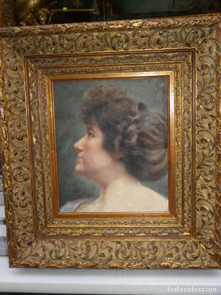Arte: Acuarela retrato de mujer S-XIX - Foto 15 - 278410153