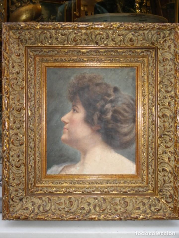 Arte: Acuarela retrato de mujer S-XIX - Foto 16 - 278410153