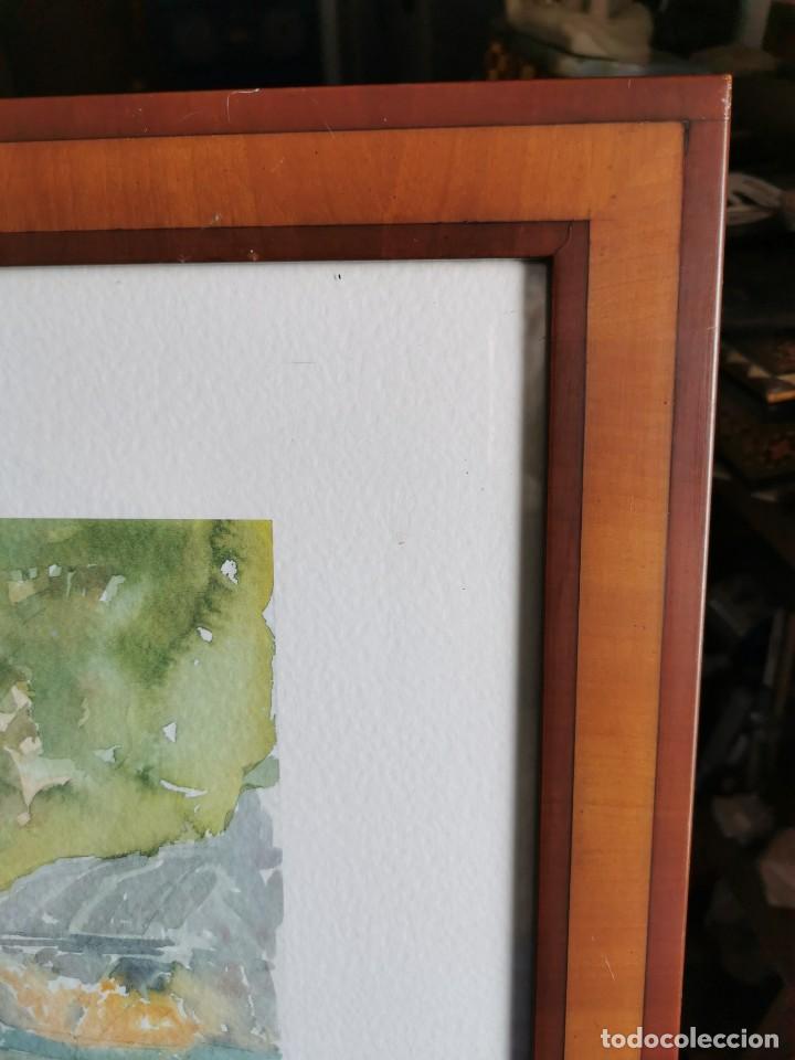 """Arte: Acuarela """"le jardin de Sophie"""". Pierre Jean Lladó. Años 80 - Foto 6 - 278692223"""