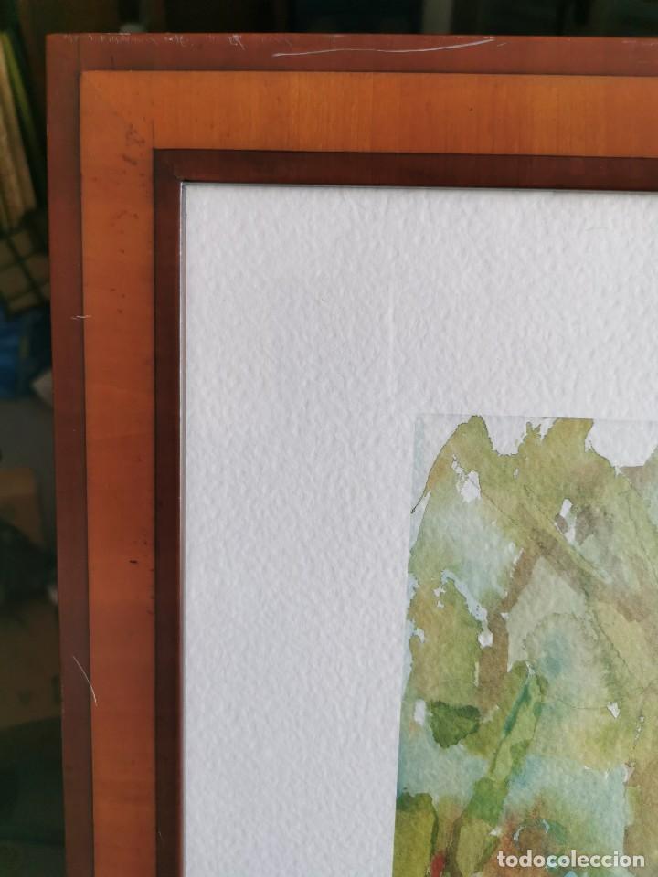 """Arte: Acuarela """"le jardin de Sophie"""". Pierre Jean Lladó. Años 80 - Foto 7 - 278692223"""