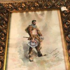 Arte: SOLDADO DE LOS TERCIOS, MAGNIFICA ACUARELA. Lote 278736503
