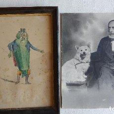 Arte: U-74.- ACUARELA Y FOTOGRAFIA DE -- MAURICIO VILOMARA, LA ACUARELA FIRMADA Y FECHADA EN 1873, VER FOT. Lote 278886288