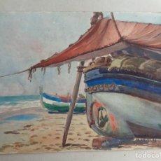 Arte: MIGUEL AGUILAR.ACUARELA.VILANOVA .MA35. Lote 278981653