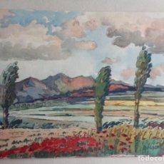 Arte: MIGUEL AGUILAR.ACUARELA.MANLLEU.MA 37. Lote 279340358