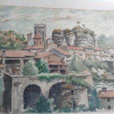 Arte: MIGUEL AGUILAR.ACUARELA.RUPIT.MA 38. Lote 279340408
