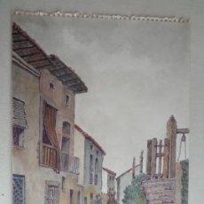 Arte: MIGUEL AGUILAR.ACUARELA.MANLLEU. EL TRAS DEL MUR.MA 39. Lote 279340483