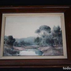 Arte: RAMON REIG I COROMINAS (MANILA, 1903 - FIGUERES, 1963) ACUARELA SOBRE PAPEL, EXCELENTE PAISAJE .. Lote 279879363