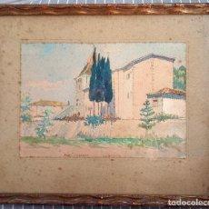 Arte: ACUARELA DEL PINTOR VASCO FRANCÉS, ANDRÉ ETCHEPARE. Lote 282064108