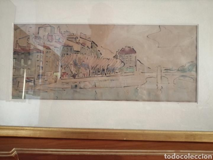 Arte: Vanguardia. Escuela de París. Firmado ilegible. - Foto 3 - 282091333
