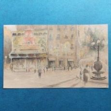 "Arte: ""EL MOLINO BARCELONA ANTIGUA"" ACUARELA 1940. Lote 282202438"