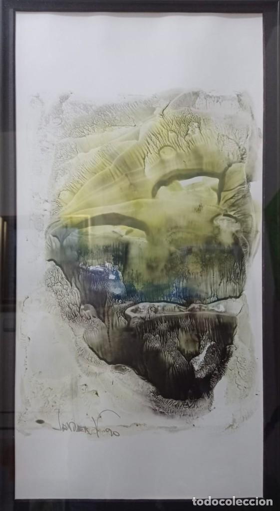 ABSTRACTO. JAVIER V. (Arte - Acuarelas - Contemporáneas siglo XX)
