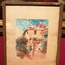Arte: VISTA DE GRANADA DE 1922. FIRMADO ILEGIBLE.. Lote 283690403