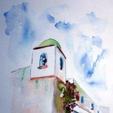Arte: ACUARELA ORIGINAL FIRMADA Y CERTIFICADA - ROVIRA RUSIÑOL - 2012 - 35 X 25 CM. Lote 284739258