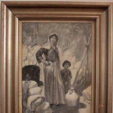 Arte: THOMAS HEATH ROBINSON (BRITISH, 1869–1950) TINTA Y ACUARELA. ENMARCADO 41X32CM. Lote 285091628