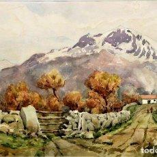 Arte: F. ANDRADA 1917 - 1998 PAISAJE CON PERSONAS. Lote 285162678