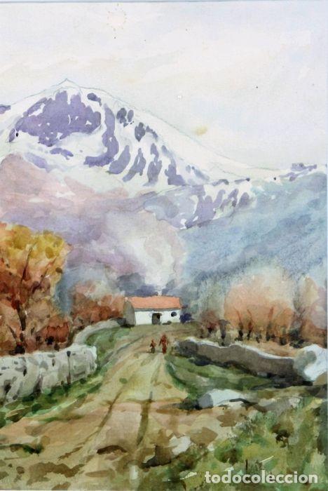 Arte: F. ANDRADA 1917 - 1998 PAISAJE CON PERSONAS - Foto 3 - 285162678