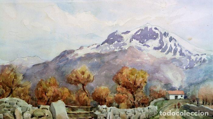 Arte: F. ANDRADA 1917 - 1998 PAISAJE CON PERSONAS - Foto 5 - 285162678