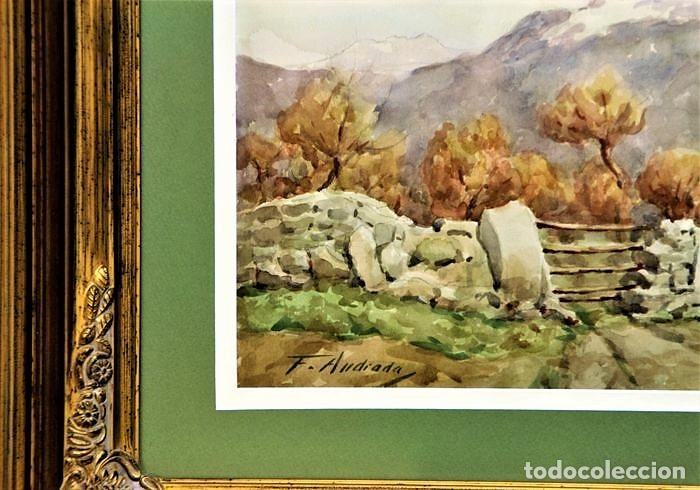 Arte: F. ANDRADA 1917 - 1998 PAISAJE CON PERSONAS - Foto 6 - 285162678