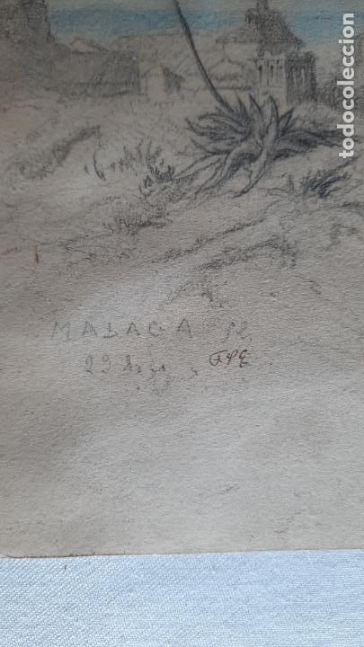 Arte: malaga 1852 original de voyage pittoresque en espagne dibujo - Foto 2 - 285197808