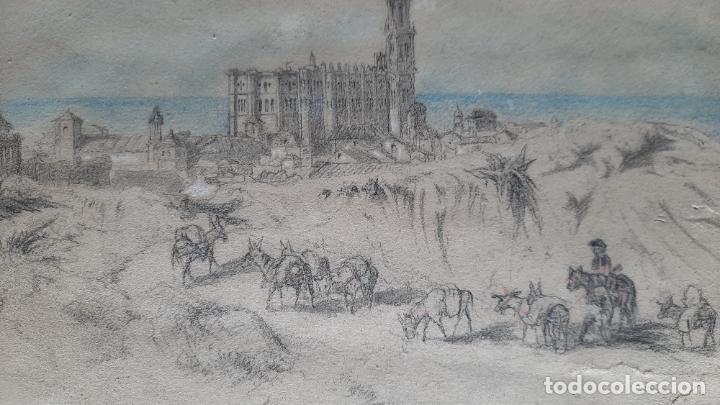 Arte: malaga 1852 original de voyage pittoresque en espagne dibujo - Foto 3 - 285197808