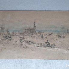 Arte: MALAGA 1852 ORIGINAL DE VOYAGE PITTORESQUE EN ESPAGNE DIBUJO. Lote 285197808