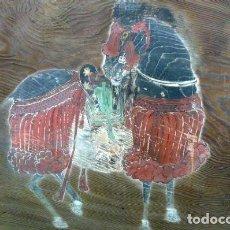 Arte: 1 EMA DE CABALLO EPOCA EDO 1810, AUTOR KIKU BUNMA, 123CMX100CMX5CMX(30KG). Lote 286521388