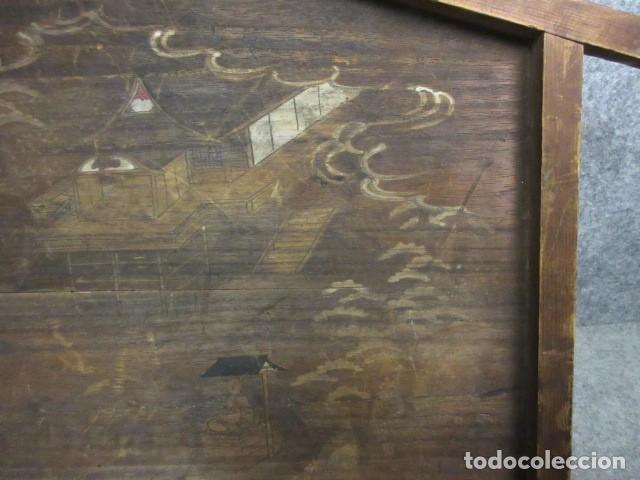 EMA, SANTUARIO DE TECHO JINGU,MADERA DE PAULONIA POLICROMADA, EDO, ERA BUNKA (1804-1818) (Arte - Acuarelas - Antiguas hasta el siglo XVIII)