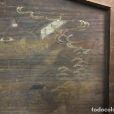 Arte: EMA, SANTUARIO DE TECHO JINGU,MADERA DE PAULONIA POLICROMADA, EDO, ERA BUNKA (1804-1818). Lote 286541708