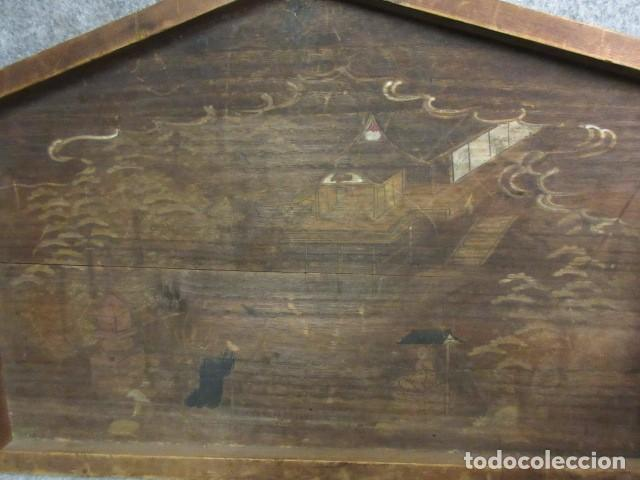 Arte: Ema, santuario de Techo Jingu,madera de Paulonia policromada, Edo, era Bunka (1804-1818) - Foto 3 - 286541708