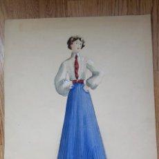 Art: ACUARELA PARA OBRA DE TEATRO 1949. VICENTE VIUDES (MURCIA,1916). Lote 286667323