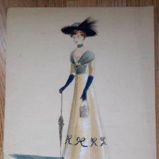 Art: ACUARELA PARA OBRA DE TEATRO 1949. VICENTE VIUDES (MURCIA,1916). Lote 286667853