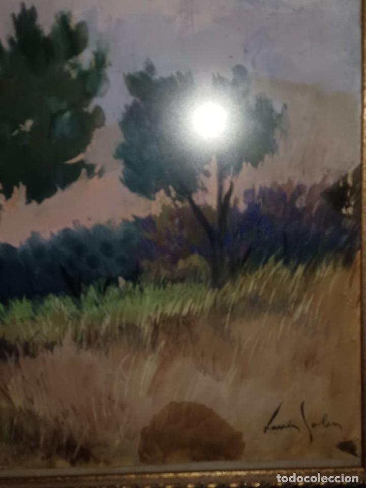 Arte: Xavier Soler antigua acuarela grades dimensiones - Foto 2 - 231849505