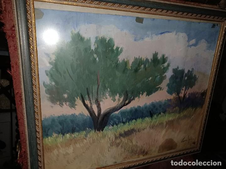 Arte: Xavier Soler antigua acuarela grades dimensiones - Foto 5 - 231849505