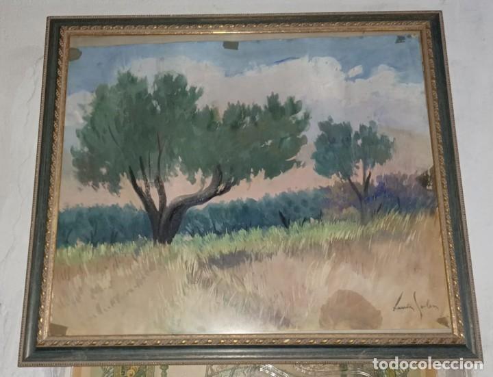 Arte: Xavier Soler antigua acuarela grades dimensiones - Foto 7 - 231849505