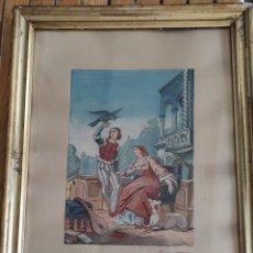 Arte: ACUARELA MIGUEL JIMENEZ Y GARCIA 1870. Lote 287679988