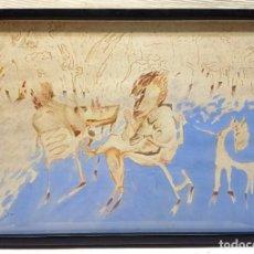 Arte: MIGUEL MANSANET (MARRUECOS 1956) - ACUARELA FIRMADA Y FECHADA EN 1982. Lote 287709528