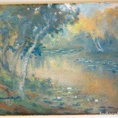 Arte: YAMADA BASKE , ACUARELA ORIGINAL , JAPANESE , AMERICAN . WATERCOLOR. Lote 287840798