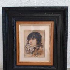Arte: ACUARELA DEL PINTOR IMPRESIONISTA IGNACIO PINAZO, AÑO 1895. Lote 288035748