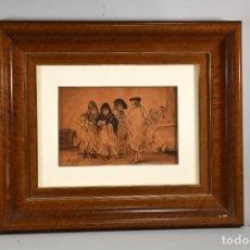 Arte: AGUADA. AGUADA SOBRE PAPEL. FIRMADA Y FECHADA (1862). LUCAS VELÁZQUEZ, EUGENIO (MADRID, 1817 – 1870). Lote 288467618