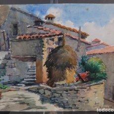 Arte: ACUARELA SOBRE PAPEL RUPIT FIRMADO M.AGUILAR. Lote 288554323