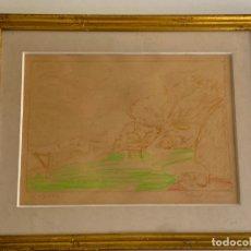 Arte: KARL LARSEN , ORIGINAL DRAWING , DENMARK , DIBUJO ORIGINAL 1971. Lote 288612698