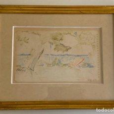 Arte: KARL GEORG LARSEN , ORIGINAL DRAWING , DENMARK , DIBUJO ORIGINAL 1957. Lote 288613003