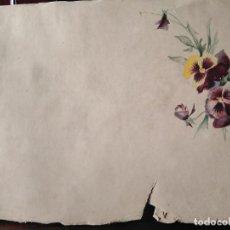 Arte: PRECIOSA ACUARELA S XIX FLORES. Lote 288743038